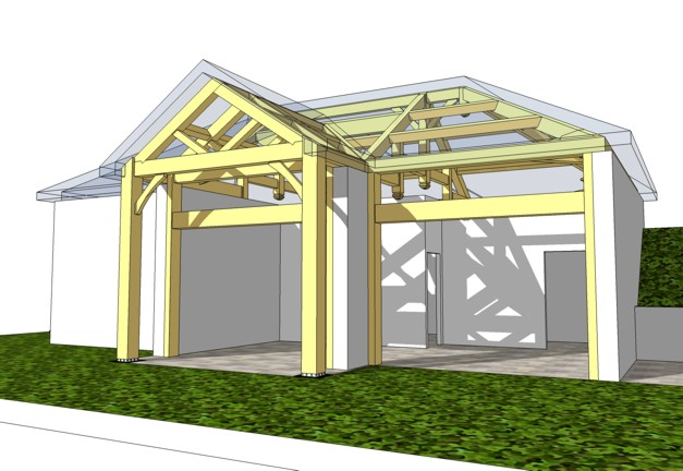 timber frame drawing