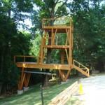 timber frame tree house