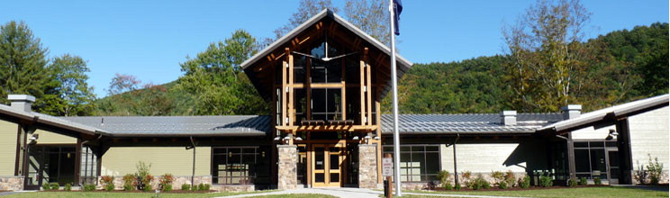 timber frames at sinnemahoning state park