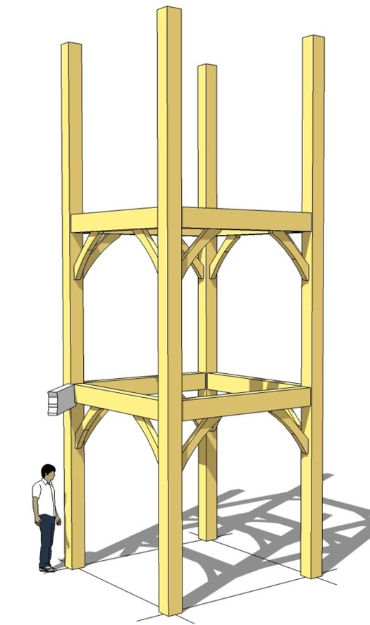 timber frame tower