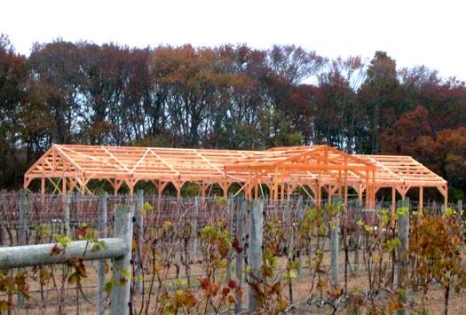 timber frame vineyard