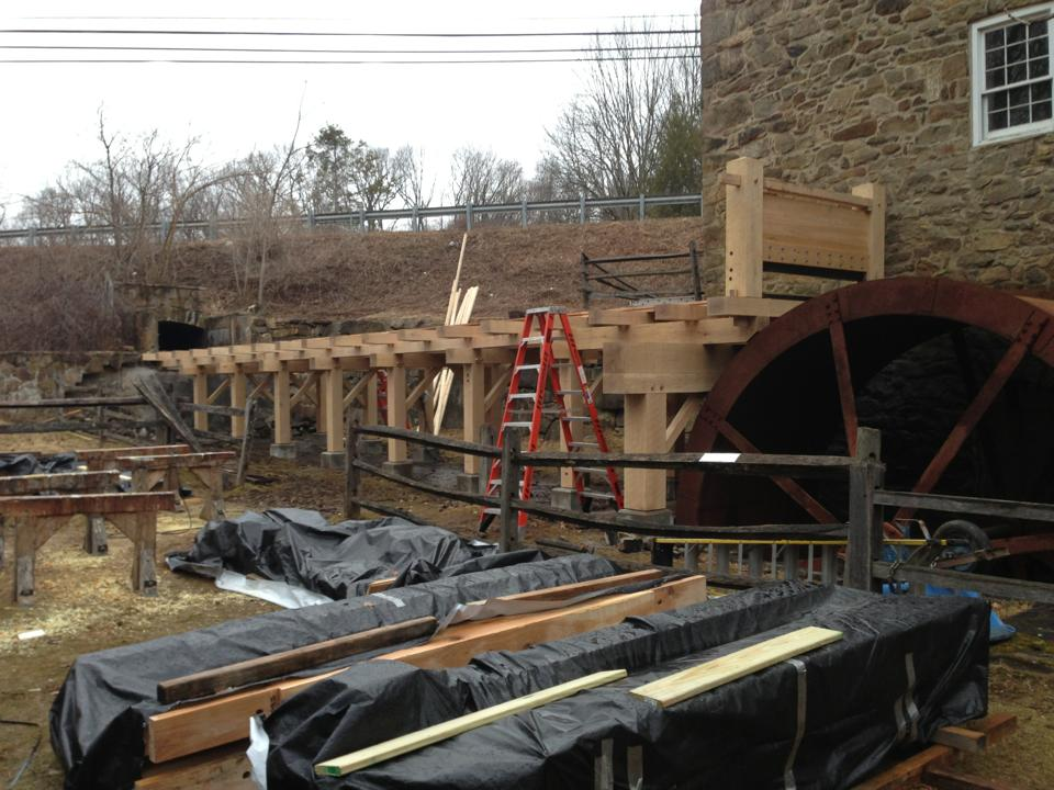 the Cooper Grist Mill in Chester, New Jersey
