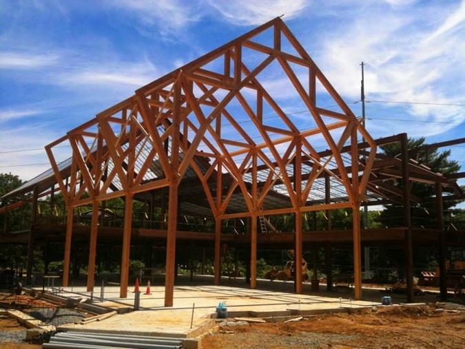 Lebanon VA Behavioral Health Complex Timber Frame