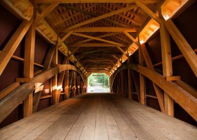 Timber Frames Inside the Siegrist Mill Bridge