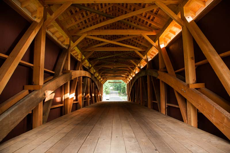 Siegrist mill covered bridge lancaster county timber for Timber frame bridge