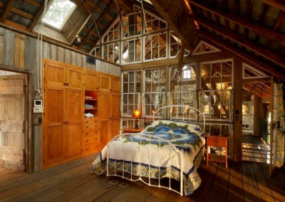 Matthias master bedroom in timber frames