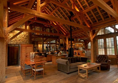 Matthias timber frame kitchen and great room