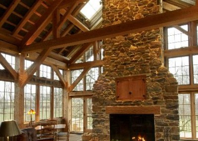 Matthias timber frames and the Fireplace