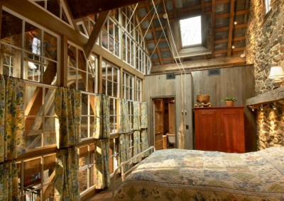 Mtthias timber framing in the bedroom