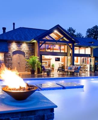 Timber Frame Pool House