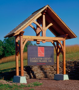 timber frame sign