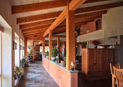 timber frame hallway