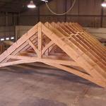 timber framed poolhouse