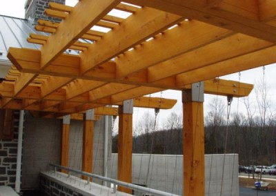 Timber Framing for the Gettysburg National Park Welcome Center