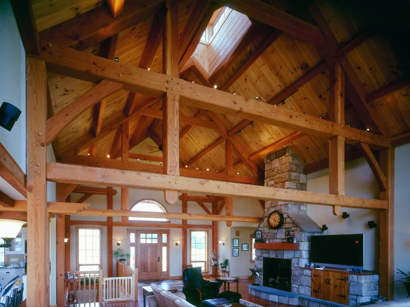 Jobes lancaster county timber frames inc for Timber frame great room