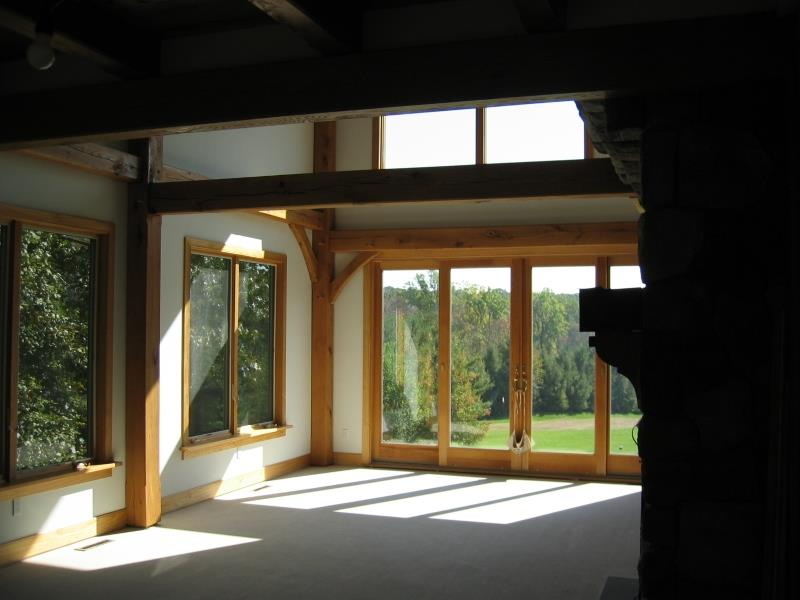 Thompson lancaster county timber frames inc - Residence principale don taylor design ...