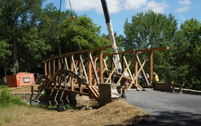 Timber frame homes by lancaster county timber frames inc for Timber frame bridge